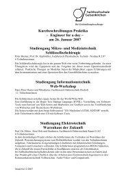 Kurzbeschreibungen Praktika - Engineer for a day - Karl-Ziegler ...