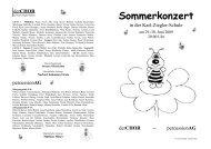 Sommerkonzert - Karl-Ziegler-Schule
