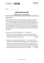 Abiturprüfung 2007 Mathematik, Leistungskurs - Karl-Ziegler-Schule
