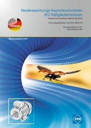 Niederspannungs-Asynchronmotoren IEC Käfigläufermotoren - VEM