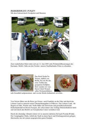 Reisebericht Polen - Karmann-Mobil-Club