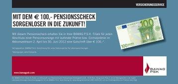 Pensionsscheck - BAWAG PSK Versicherung