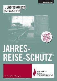 Flyer Jahres-Reise-Schutz - BAWAG PSK Versicherung