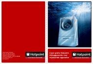 3 jaar gratis Hotpoint- Airbaggarantie voor vrijstaande apparaten