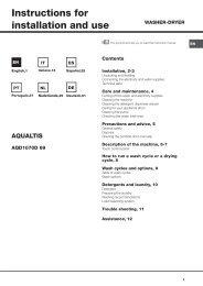 Download handleiding - Hotpoint