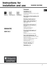 AQUALTIS DIGIT 2008_GB - Hotpoint