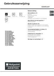 Gebruiksaanwijzing - Hotpoint
