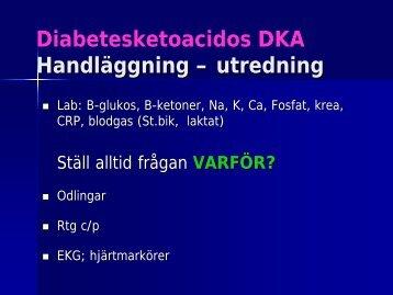 Diabetesketoacidos DKA Handläggning – utredning