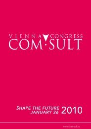 Booklet Vienna Congress com·sult 2010 - Create Connections