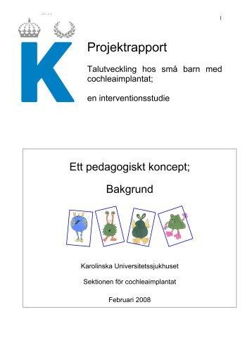 Talutveckling hos små barn med CI - Bakgrund