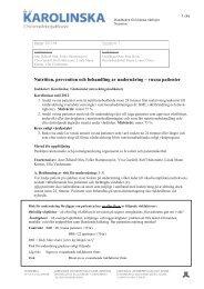 Nutrition uppdaterad 2012-04 - Karolinska Sjukhuset