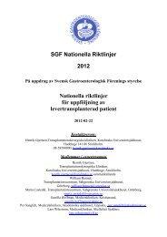 Nationella riktlinjer för uppföljning av levertransplanterad patient