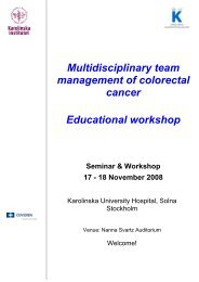 Multidisciplinary team management of colorectal cancer Educational ...