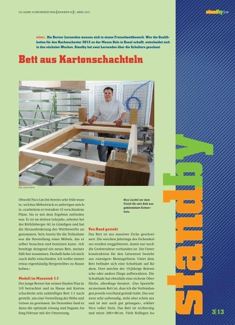Standby März 2013 - KARRIEREPASS.ch