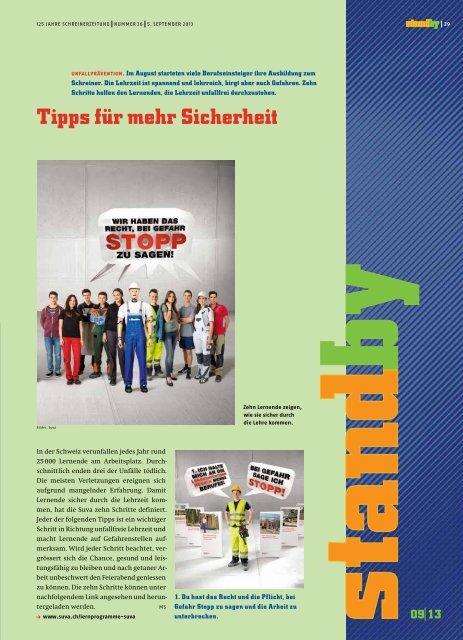Standby September 2013 - KARRIEREPASS.ch