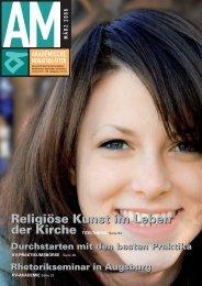 Religiöse Kunst im Leben der Kirche TITELTHEMA Seite 04 ... - KV