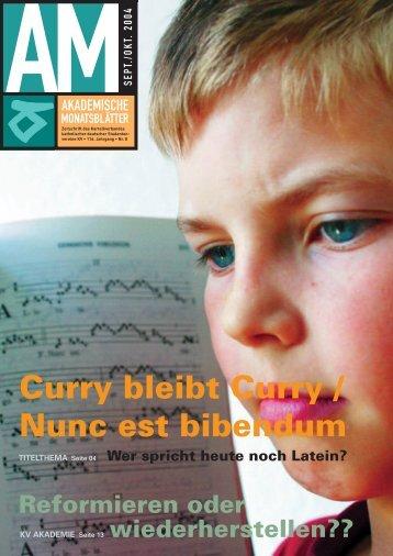 Curry bleibt Curry / Nunc est bibendum Wer spricht heute noch ... - KV