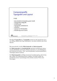 Computergrafik: Typografie und Layout - ETH Zürich