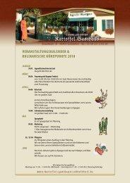 kulinarischen Kalender - Kartoffel-Gasthaus Cobbelsdorf