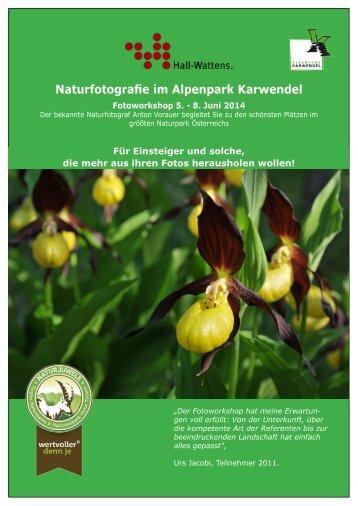 Naturfotografie im Alpenpark Karwendel