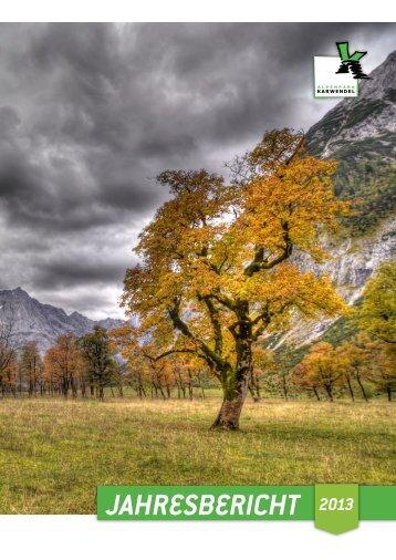 Jahresbericht 2013 - Alpenpark Karwendel