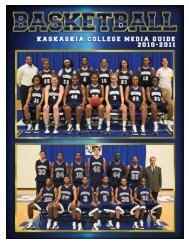 2010-2011 Basketball Media Guide - Kaskaskia College
