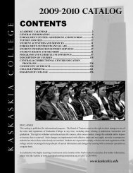 Catalog 2009-2010:Catalog - Kaskaskia College