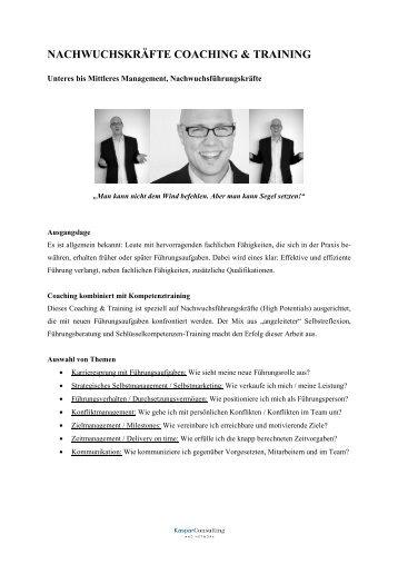 NACHWUCHSKRÄFTE COACHING & TRAINING - Kaspar Consulting
