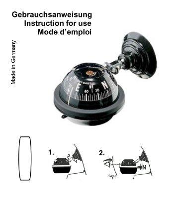 Gebrauchsanweisung Instruction for use Mode d ... - Kasper & Richter