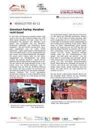 NEWSLETTER 40-12 - Kassel Marathon