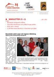 Newsletter 21-2011 - Kassel Marathon