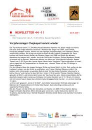 NEWSLETTER 44 -11 - Kassel Marathon