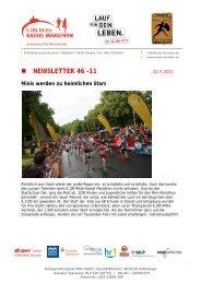 NEWSLETTER 46 -11 - Kassel Marathon