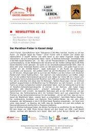 NEWSLETTER 41 -11 - Kassel Marathon