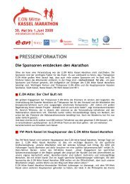 PRESSEINFORMATION Die Sponsoren ... - Kassel Marathon