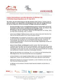 Informationen Mini-Marathon 2012 - Kassel Marathon
