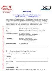 Medizin – Gesundheitspolitik - Kassel Marathon
