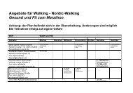 Angebote für Walking - Nordic-Walking Gesund ... - Kassel Marathon