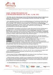 Letzte wichtige Informationen zum E.ON Mitte Kassel Marathon vom ...