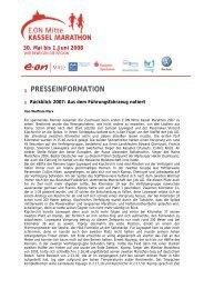 30. Mai bis 1.Juni 2008 - Kassel Marathon