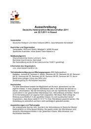 Ausschreibung DM Halbmarathon 2011 - Kassel Marathon