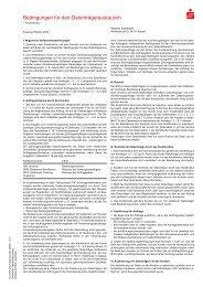 Bedingungen für den Datenträgeraustausch - Kasseler Sparkasse