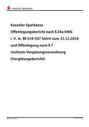 Offenlegungsbericht 2010 - Kasseler Sparkasse