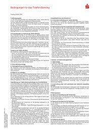 Bedingungen für das Telefon-Banking - Kasseler Sparkasse