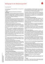 Bedingungen für den Überweisungsverkehr - Kasseler Sparkasse