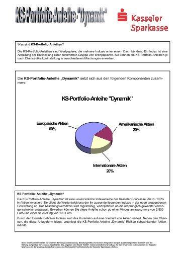 Kundenprospekt Dynamik , 1.1 - Kasseler Sparkasse