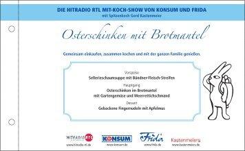 Osterschinken mit Brotmantel - GERD KASTENMEIER