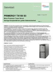 PRIMERGY TX150 S3 - Kastl GmbH