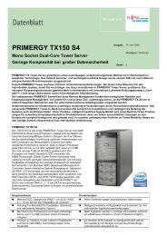 PRIMERGY TX150 S4 - Kastl GmbH