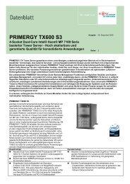 PRIMERGY TX600 S3 - Kastl GmbH